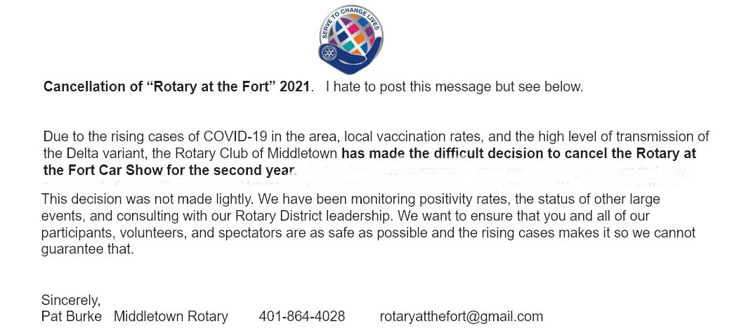 2021 Show Cancellation Notice